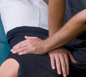 A chiropractic adjustment.